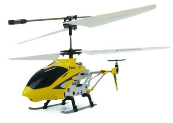 Rtail Syma S107 Alloy structrue Mini 3CH rc helicopter with gyroscope[Yellow]