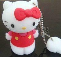 Wholesale 10 PCS/Hot Cheap Cartoon Hello Kitty U disk 4G 4GB USB 2.0 Stick/Creative USB drive/ U disk USB memory flash drive