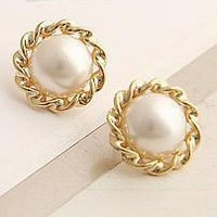 fashion jewelry 18k gold pearl earring