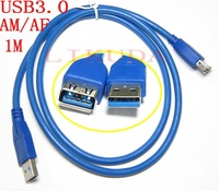 3 FT 1.5M Blue USB 3.0 Male to Female A/A Extension Cable