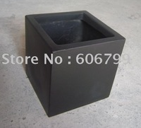 free shipping wholesale big square fiberglass planters matt black ,gloss black (1pcs/CTN)
