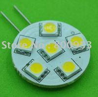 Brand new 200Pcs/Lot G4-5050-6SMD Warm White long life Super bright Light Bulb Lamp  Bright Auto led bulb lamp
