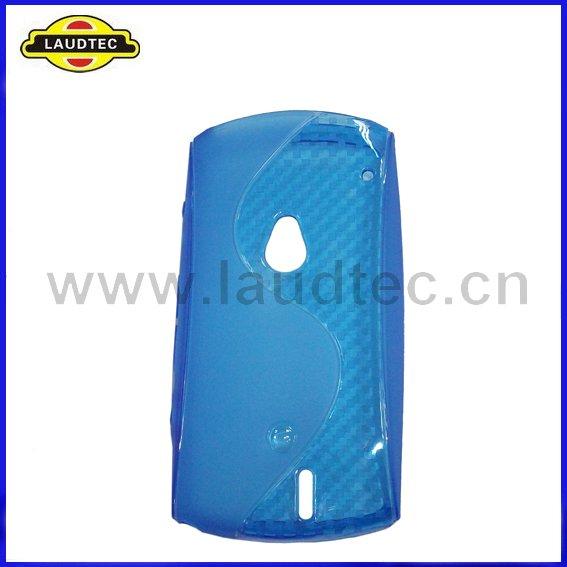 Grátis 100pcs frete / lot Azul S Tipo de Desenho TPU Case Capa Gel para Sony Ericsson Xperia Neo(China (Mainland))