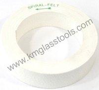 150x35x105(Bore) mm Felt Wheel for Glass Edge Final Polishing