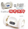 Free Shipping (1PCS/LOT) 3COLOR LCD DISPLAY Clocky ,NEW Digital LED Runaway Alarm Clock With Wheels children's gift Alarm clock