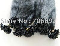 22inch #1b 100g Indian Prebonded Utip Nail Hair Remy Hair Extensions Human Hair 1g/strand 100s High Quality DHL Shipping