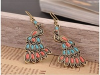New arrival! Valentine's Day gift!!Peacock earrings beautiful retro fashion