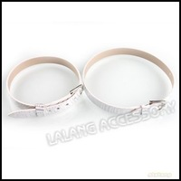30pcs/lot New White Charms Buckle Bracelets Leather Wristband Fit Charms Belt Beads 22*8*1.5mm 190126