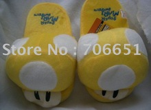 wholesale+free shipping mario slipper cartoon shoes indoor slipper  mix order & drop shipping052040(China (Mainland))