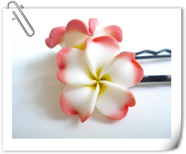 3 color mixed Fashion Clay Flower hair pin,Fashion hair accessories,Flower hair accessories,20pcs/lot,Freeshipping(China (Mainland))