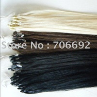 22inch #6 100g Indian Prebonded Micro Ring Loop Hair Remy Hair Extensions Human Hair 1g/trand 100s AAA Grade DHL Shipping