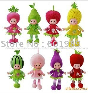 Fruits Vegetable Cute Talking Doll 8Types For you Choose Otherwise we deliver them to you randomly(China (Mainland))