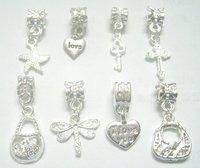 Free Shipping 10pcs/lot Mix Style Silver Pendant Fit Charm Bracelet Necklace PD22