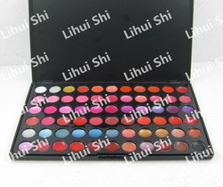2 pcs 66 colors lip gloss Makeup palette, 66 colors lip blam palette Best selling~ 2011 New Arrived(China (Mainland))