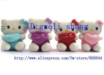Free shipping Lots of 24pcs cute hello kitty doll soft Toy Plush Toys 18X14cm C 017