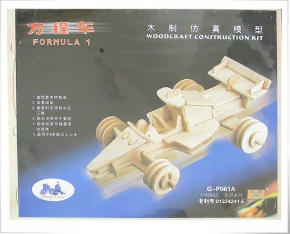 Mixed order#29-DIY car model-woodcraft construction kit-stereo puzzles-3D fancy toy-educational toys(China (Mainland))