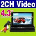 "Free Shipping High Quality 4.3"" Foldable LCD Color Camera DVD VCR CCTV Car Monitor O-485"
