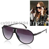free shipping 86409 Black UV400 Fashion Protective PC Lens Sports SunGlasses