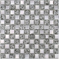 Silver glass mosaic tiles!!high quality with best price!!resale&wholesale on promotion!!