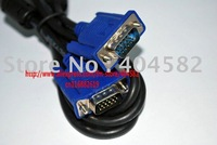 High quality VGA Cable M-M 15 Pin PC Cables standard vga+Free Shipping
