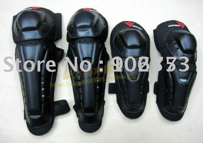 free sample motorcycle thermal elbow and knee protectors Black color Free Size