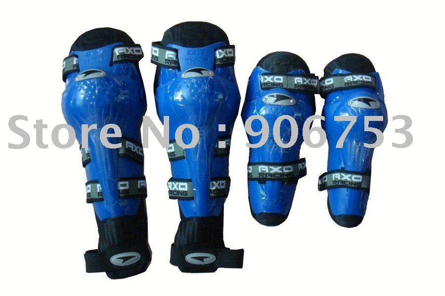 free sample motorcycle thermal AXO elbow and knee protectors Blue color Free Size