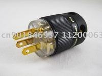 SONAR 24K Gold Plated US USA Schuko Power Plug