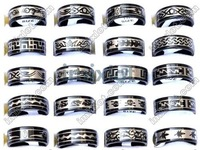 Free shipping Wholesale mix lots 12pcs Stainless steel ring jewelry rings fashion jewelry wedding jewelry