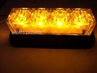 Free shipping , DIY LED strobe light,amber LED warning light ,4x1W/led ,hight brightness
