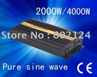 Hot sell high quality dc12v -ac 220v  2000w pure sine wave   solar inverter/home inverter free shipping