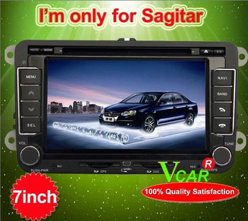 7 inch special car dvd player for volkswagen sagitar