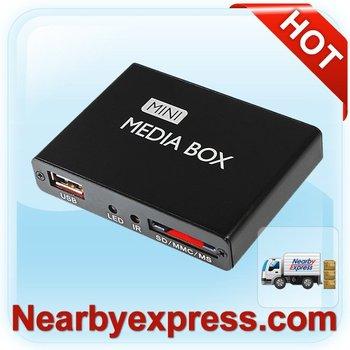 Full HD Mini Media Player 1080P PDM08H USB HDMI AV port support SD/MC/MMS US version (68-36001-018)