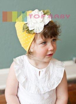 Top Baby hats headband barrette headgear kids berets chapeau dicer beanie hair clips --CL694A