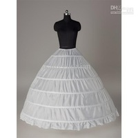 Wholesale - - 6-HOOP 1-LAYER BRIDAL WEDDING GOWN PETTICOAT SKIRT SLIP FOR Wedding Dress Bridal Ball Pr