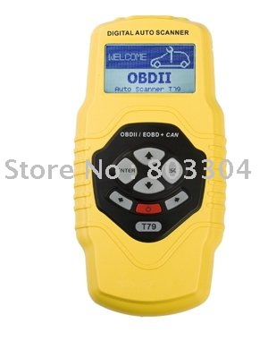Highend Diagnostic Scan Tool OBDII auto scanner T79(yellow, multilingual,updateable)(China (Mainland))