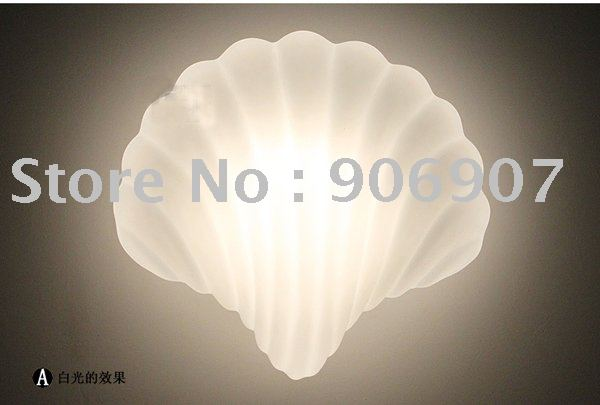 Free shipping Modern style wall lamp,Corridor lights,shells shape wall lamp,Lighting,Lamps and lanterns 2pcs/lot(China (Mainland))