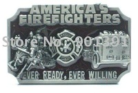 AMERICA'S FIRE FIGHTERS metal belt buckle wholesale in 100pcs & Free shipping by EMS