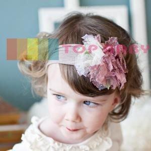 Wholesale - Crochet head band bow clip flower Crochet girls Hair bands hairpins baby hair--DYQ697A