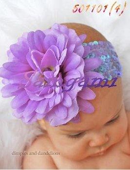 Wholesale - Crochet head band bow clip flower Crochet girls Hair bands hairpins baby hair--DYQ704A