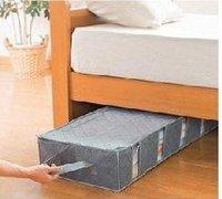 free shipping Finishing Box 53L\\bamboo charcoal Storage Box /Bed arrangement bag/ receive a box