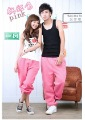Free shipping!!Hot HIP HOP street dancing/Soft Shell pants/street dancewear/Lovers pants-pink