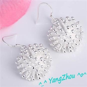 E114 Factory Price,Nice Package!  Free shipping  silver earring.fashion jewelry jewellry Earrings, Best for Gift