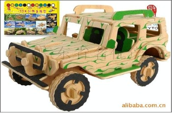 Mixed order-DIY car model-woodcraft construction kit-stereo puzzles-3D fancy toy-educational toys jeep