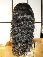 Beautiful black wavy indian remy human hair half wig