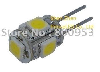 Top seller Brand new 200pcs/lot High power Car LED light G4 5 SMD 5050 Light Interior led Bulbs car led