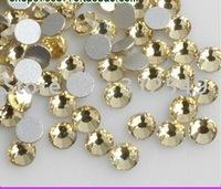High Shine SS6(2mm) 1440pcs/bag light yellow  /Nail rhinestones flat back/ nail art/ color rhinestone+Free shipping