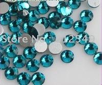 SS6(2mm)--High Shine 1440pcs/bag Blue zircon /Nail rhinestones flat back/ nail art/ Cellphone decal diamond