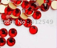 SS4(1.5mm)--High Shine 1440pcs/bag Bright red SIAM colour /Nail rhinestones flat back/ nail artAustia/ decal diamond