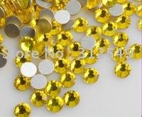 SS4(1.5mm)--High Shine 1440pcs/bag Citric yellow/Nail rhinestone flat back/ nail art// decal diamond