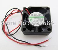 1pc SUNON GM1202PFV2-8A 12V 0.6W  DC Cooling Fan 5 Blade 2510S 25x25x10mm 2 Wire